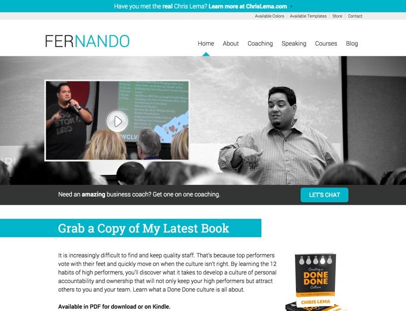 WP theme Fernando
