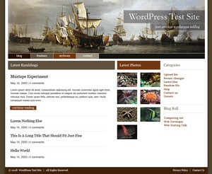 WP theme Ships Ahoy!