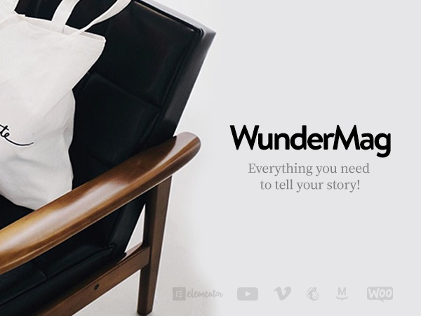 WunderMag WordPress magazine theme