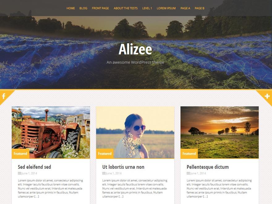 Alizee Pro Child WordPress page template