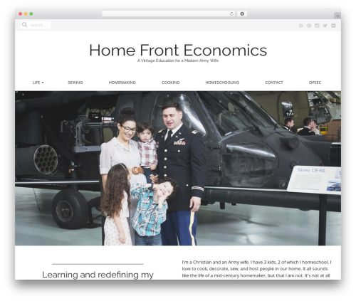 Best WordPress theme Matheson Pro - homefronteconomics.com