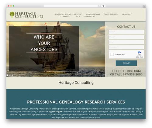 Cherry Framework WordPress website template - heritageconsulting.com