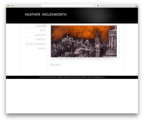 Classic Theme 3 WordPress page template - heatherholdsworth.com