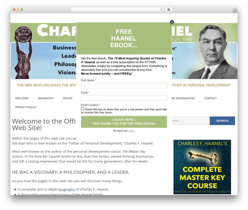 Epic business WordPress theme - haanel.com