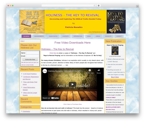 Free WordPress vooPlayer v4 plugin - holinesstorevival.com