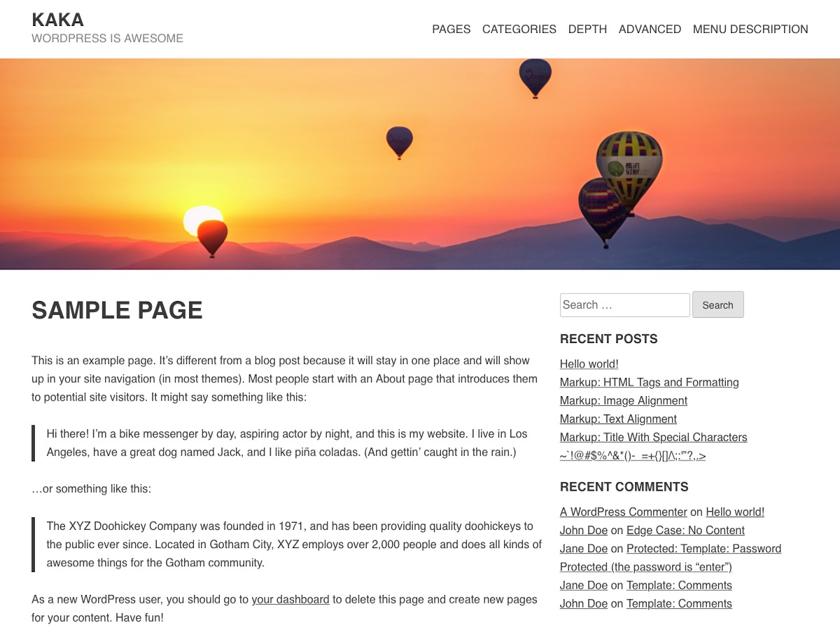 Kaka WordPress template for business