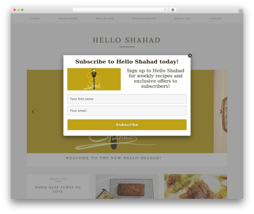 Kindred theme WordPress - helloshahad.com