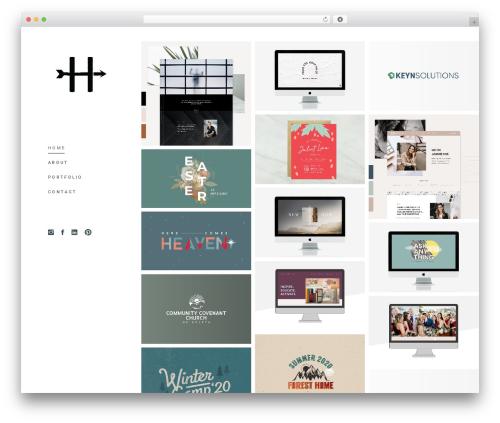 mane best portfolio WordPress theme - heathermakesart.com