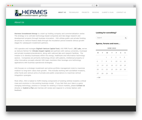Mineral WordPress template for business - hermesinvgroup.com/fund