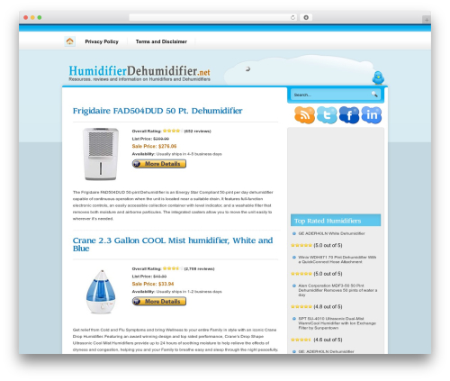 Nublu template WordPress - humidifierdehumidifier.net