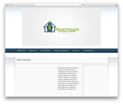 The Cause WP template - havenhouseshelter.org