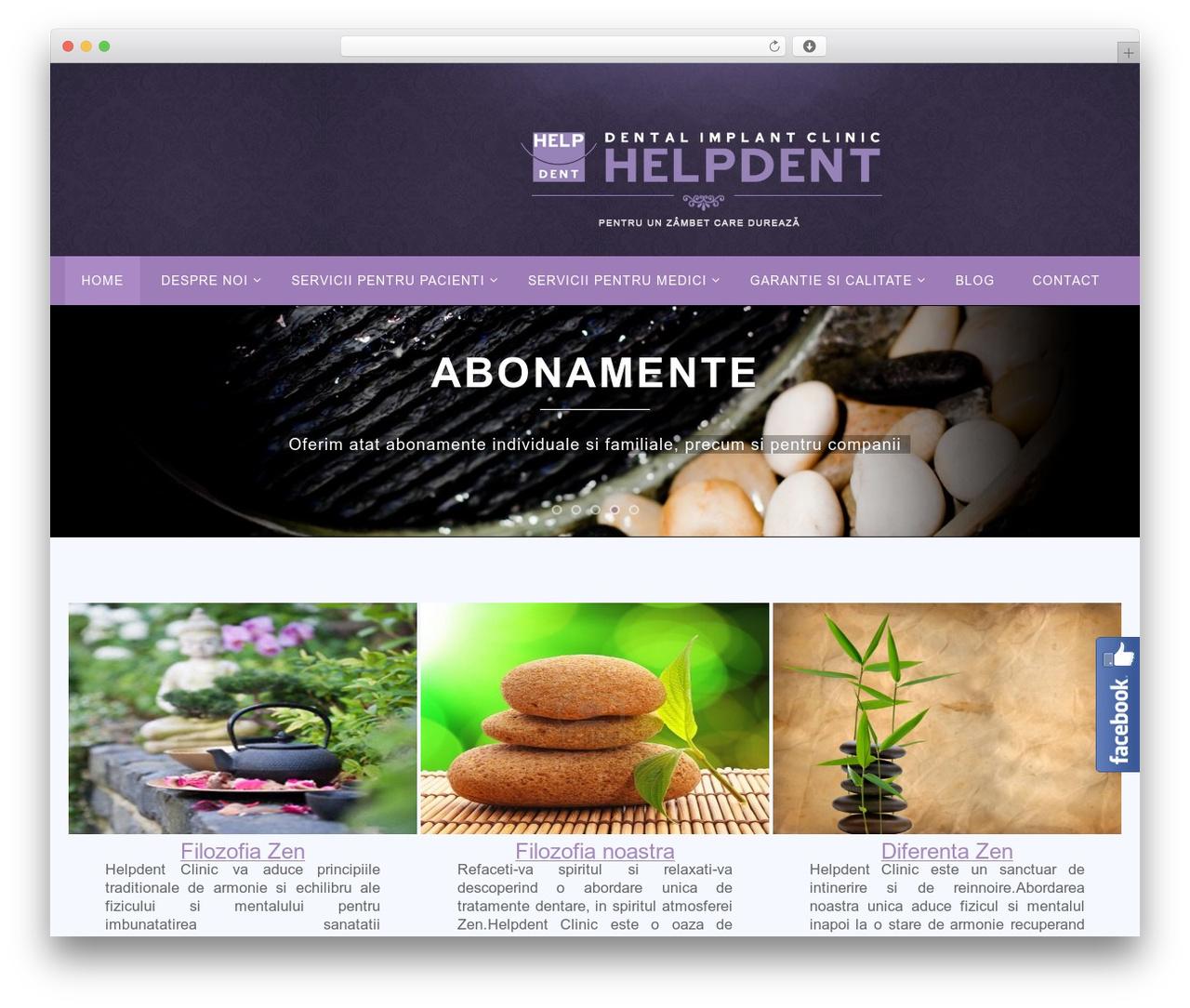 Theme WordPress Nirvana - helpdent.ro