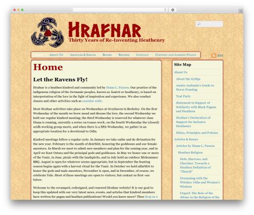 Themify Basic WordPress website template - hrafnar.org