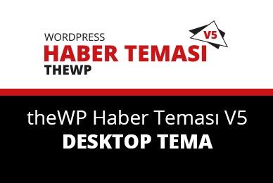 WordPress template theWP - HABER TEMASI V5