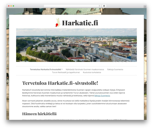 Free WordPress TablePress plugin - harkatie.fi