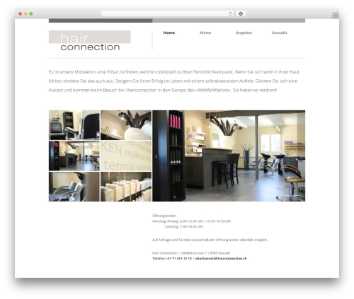 WP theme Brandspace - hairconnection.ch