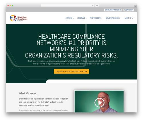 Divi WordPress theme - healthcarecompliancenetwork.com