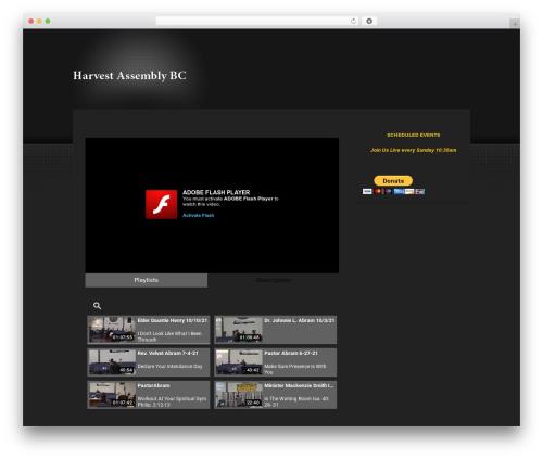 ePhoto WordPress page template - harvestassemblybc.com