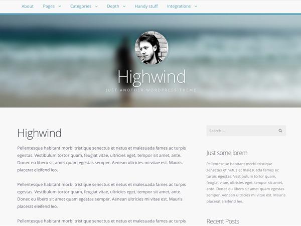 Highwind Child WordPress theme