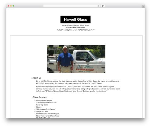 NewsBlog WP template - howellglasslol.com