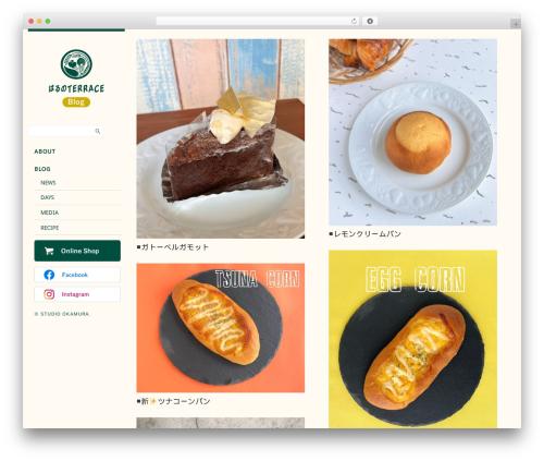Side Grid Responsive WordPress Theme WordPress theme design - harunoterrace.jp