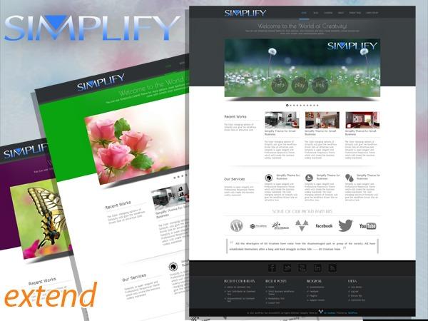 Simplify  Extend business WordPress theme