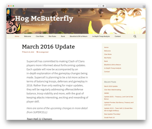 Theme WordPress Twenty Thirteen - hogmcbutterfly.net