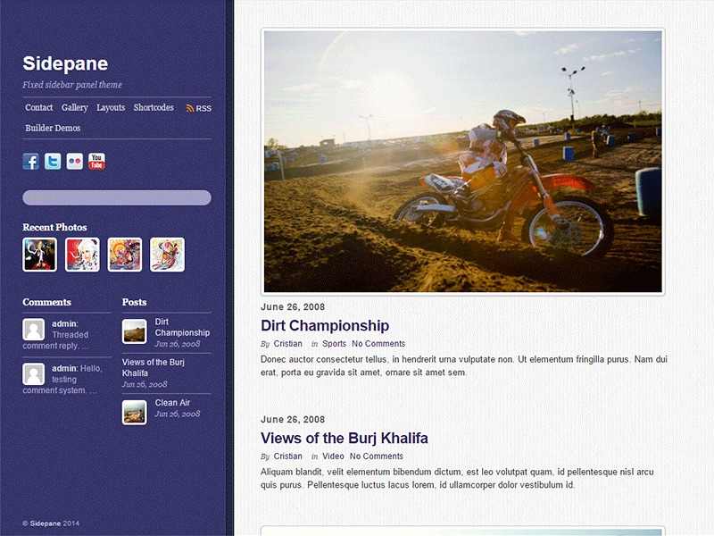 Themify Sidepane WordPress theme