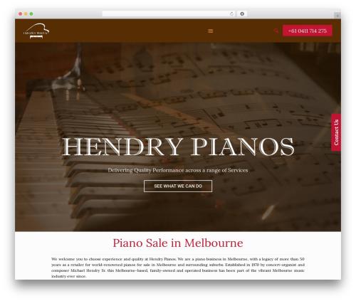 WordPress theme Betheme - hendrypianos.com.au