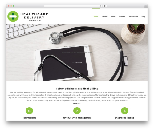 WP template Exelero - Responsive Multi-purpose WordPress Theme - healthcaredeliverysolutions.com