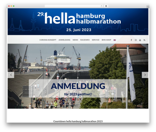 BMS WordPress page template - hamburg-halbmarathon.de