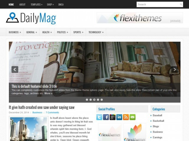 DailyMag WordPress news template