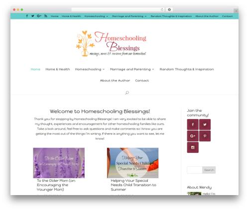 Divi best WordPress theme - homeschoolingblessings.com