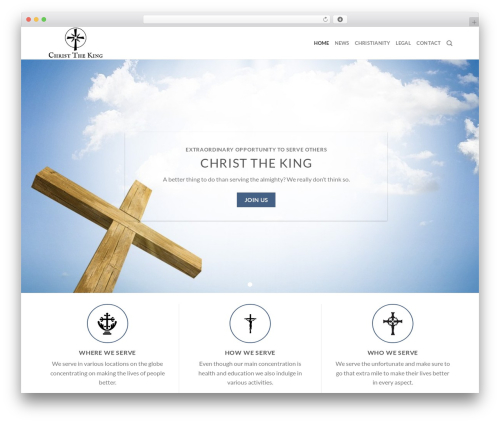 Flatsome WordPress theme - christthekingma.org