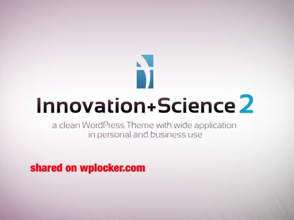 Innovation Science Wordpress Theme (shared on wplocker.com) WordPress portfolio theme