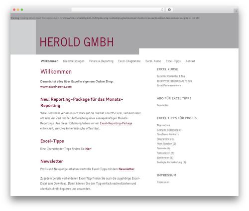 Modernist business WordPress theme - heroldgmbh.ch