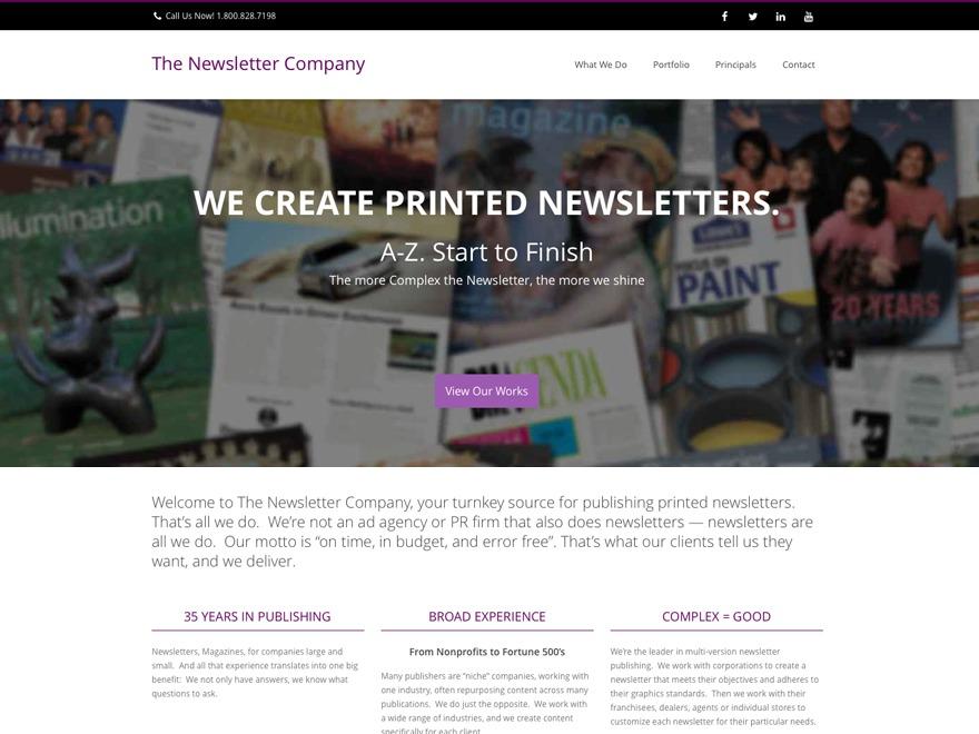 Nimva WordPress portfolio template