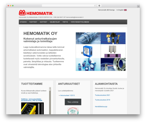 Responsive best free WordPress theme - hemomatik.fi