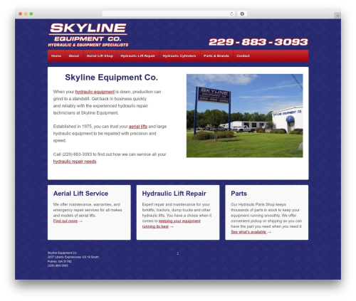 Responsive WordPress template free - hydraulicliftrepair.com