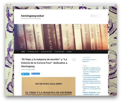 Twenty Eleven free WordPress theme - hemingwayoskar.com.ar