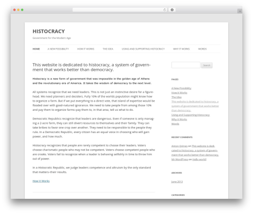 Twenty Twelve free WordPress theme - histocracy.com