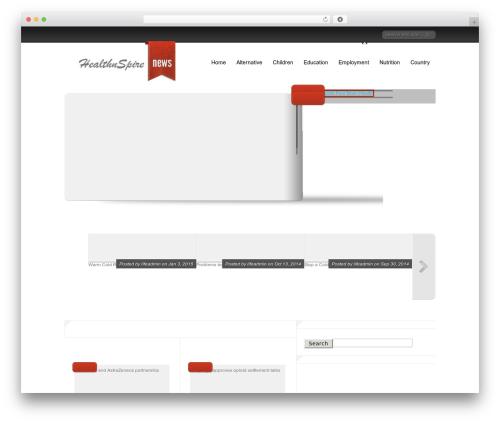 WordPress website template Delicate News - health.lifenspire.com