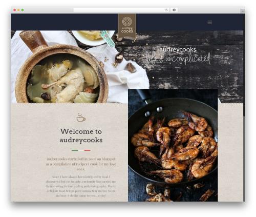 Betheme food WordPress theme - audreycooks.com