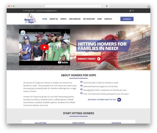 Charity Is Hope WordPress gaming theme - homersforhope.org