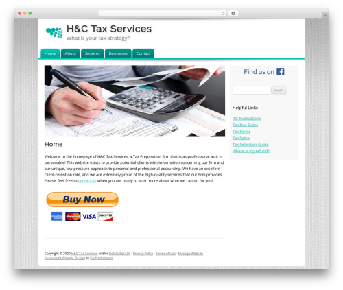 Customized WordPress template for business - hctaxservices.com