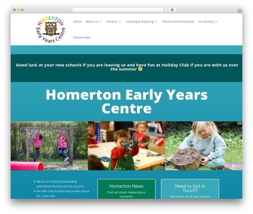Divi WordPress theme - homerton.cambs.sch.uk