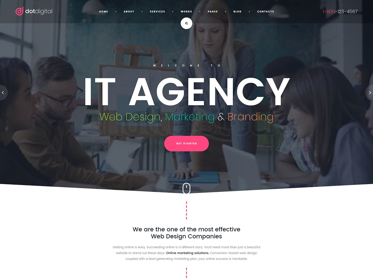 Dotdigital Child WordPress page template
