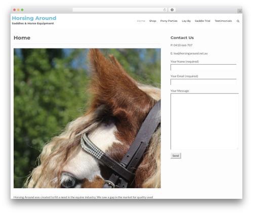 Flat Responsive Pro WordPress template - horsingaround.net.au