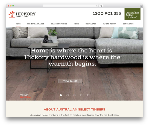 Hickory fashion WordPress theme - hickoryfloors.com.au
