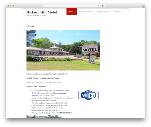 MyCorp WordPress website template - hickoryhillmotel.com